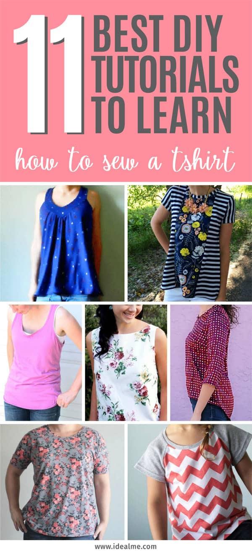 11 diy tutorials on how to sew a tshirt