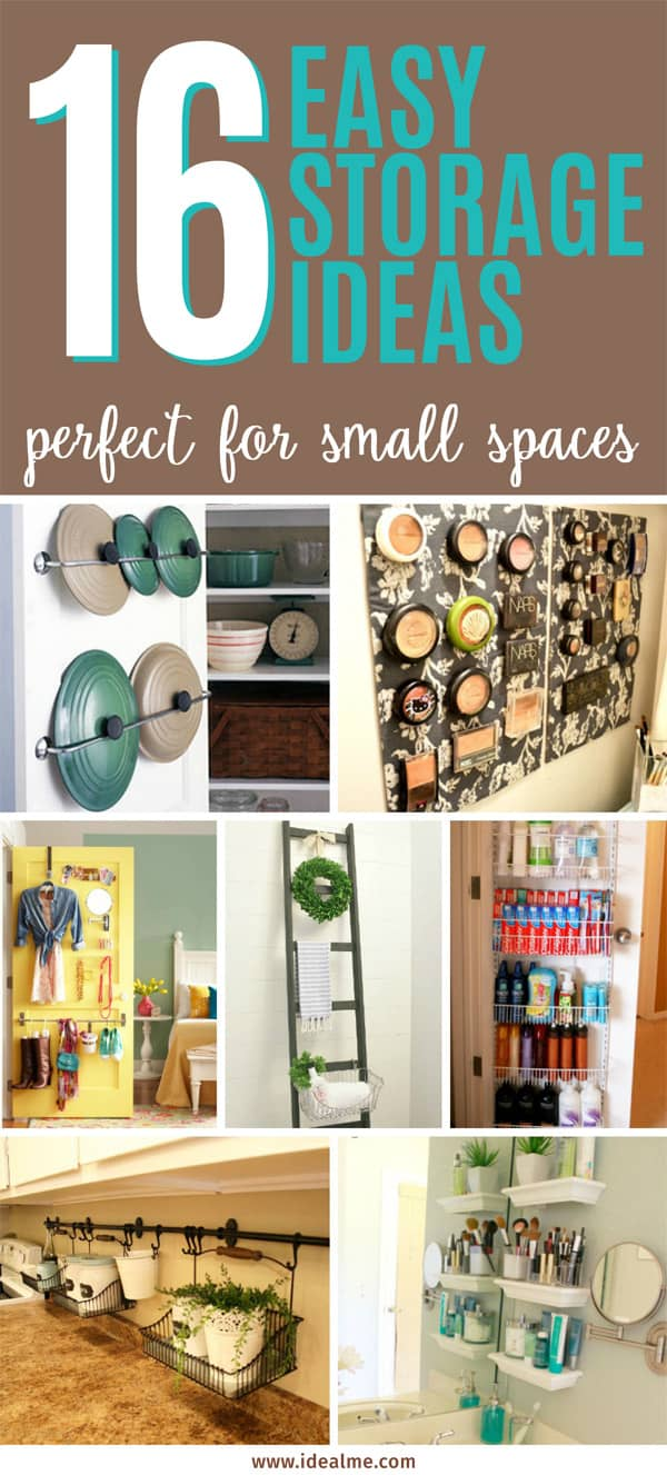 16 easy storage ideas for small spaces