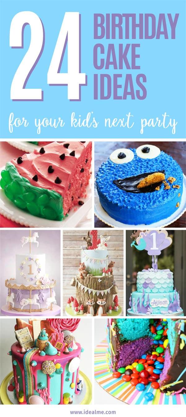 24 fun themed kids birthday cake ideas