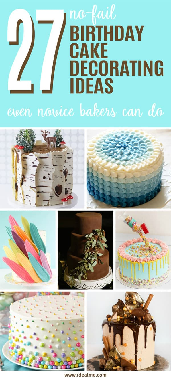 27 no-fail birthday cake decorating ideas
