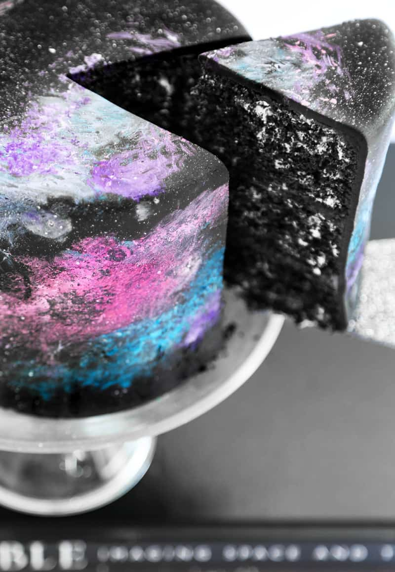 Black Velvet Nebula Cake - birthday cake decorating ideas