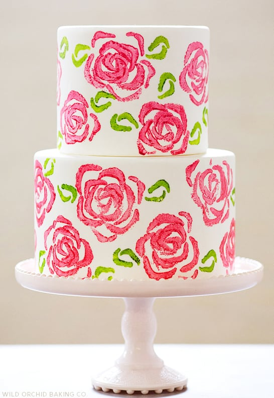Celery Stamp Roses - birthday cake decorating ideas