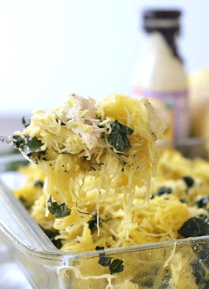 Chicken Caesar Spaghetti Squash Bake - quick paleo recipes