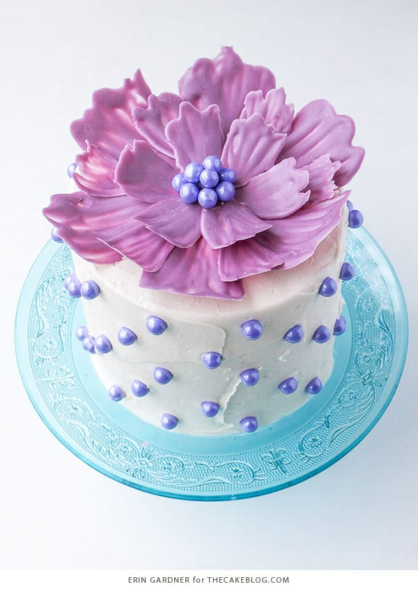 Chocolate Flower Cake - birthday cake decorating ideas