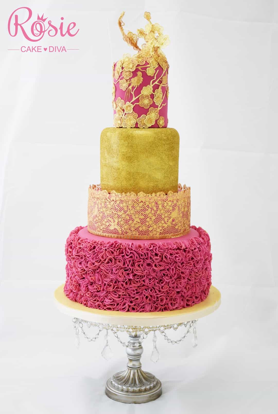 Fondant Ruffles - birthday cake decorating ideas
