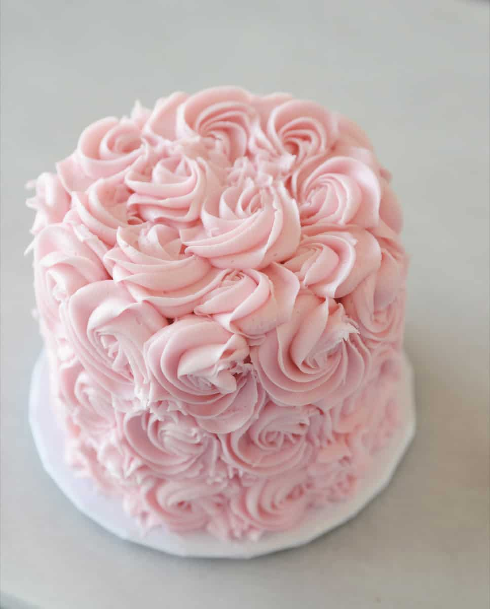 Frost a Rose Cake - birthday cake decorating ideas