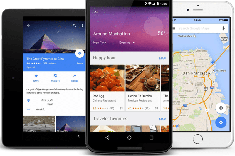Google Maps - apps for travel
