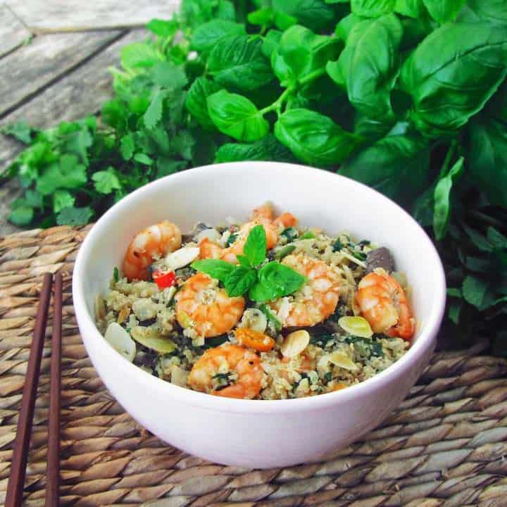 Keto Egg Fried Rice - quick paleo recipes