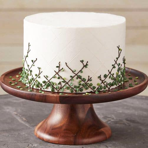Leafy Lattice - birthday cake decorating ideas