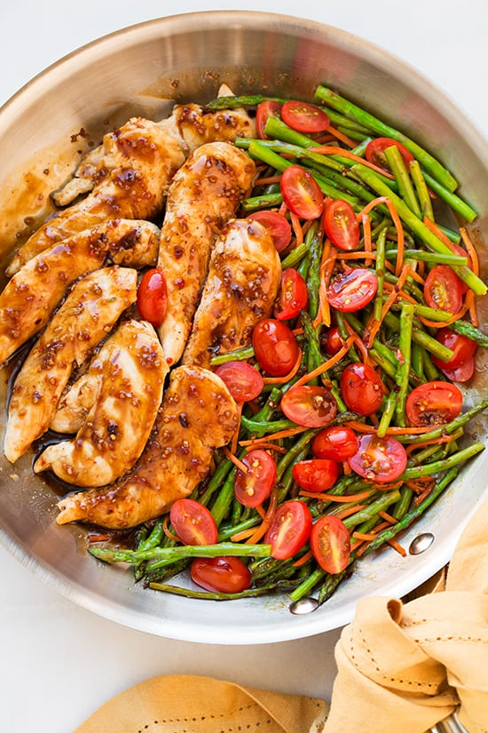One Pan Balsamic Chicken and Veggies - quick paleo recipes
