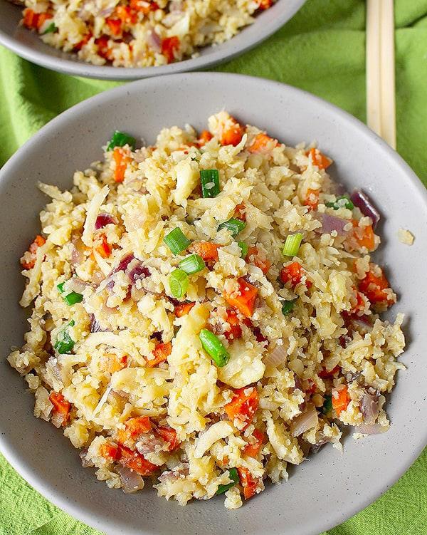 Paleo Cauliflower Fried Rice - quick paleo recipes