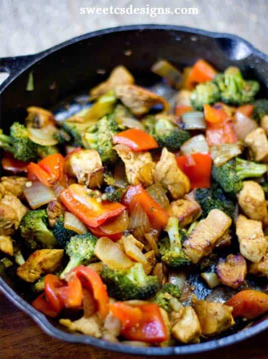 Paleo Curry Chicken Stir Fry - quick paleo recipes