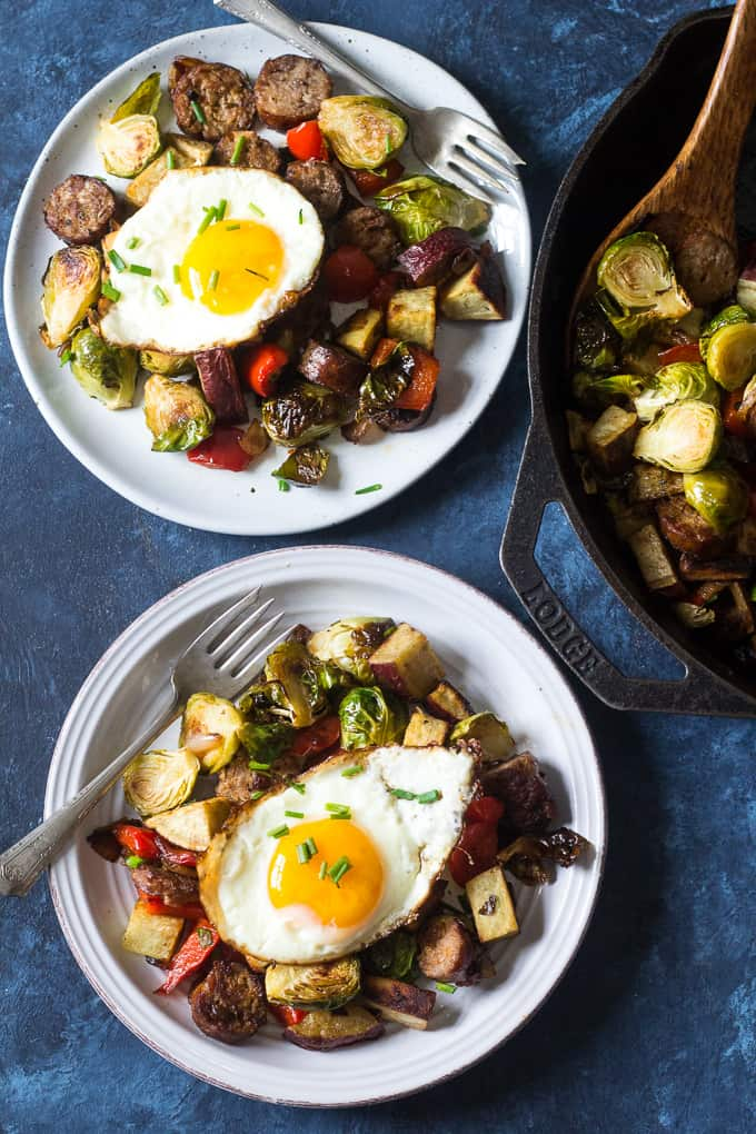Sausage Sweet Potato & Veggie Skillet - quick paleo recipes