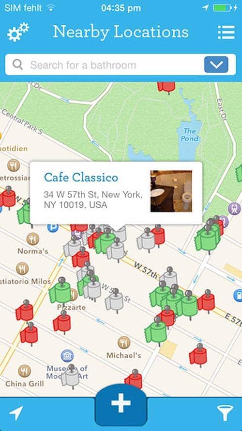 SitOrSquat - apps for travel