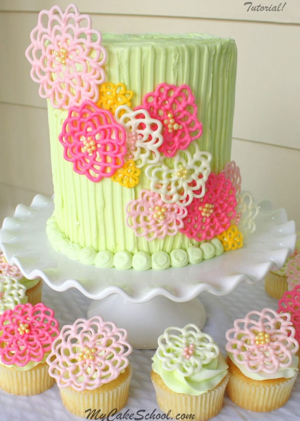 Springtime Flowers - birthday cake decorating ideas