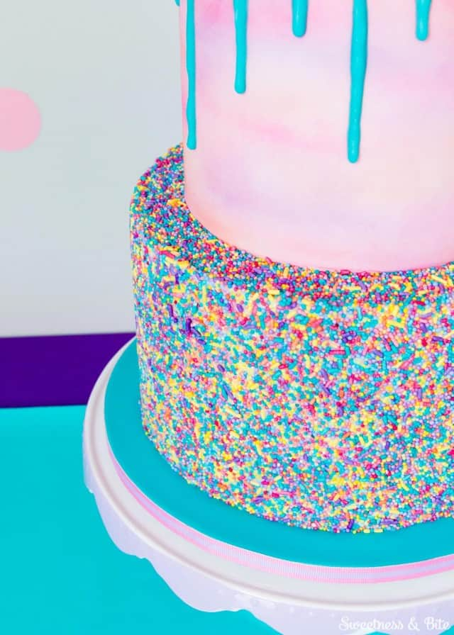 Sprinkle Cake - birthday cake decorating ideas