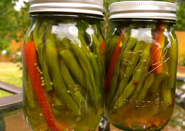 Sweet and Hot Pickled Green Beans - recipes for canning beans