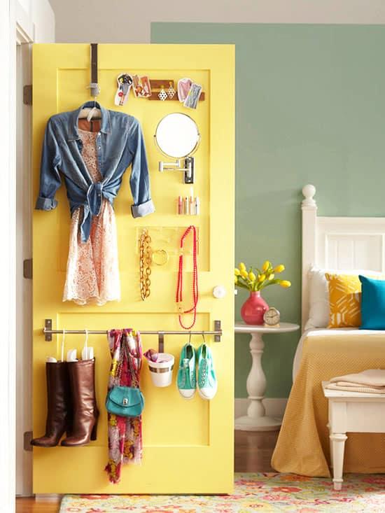 back of closet - easy storage ideas