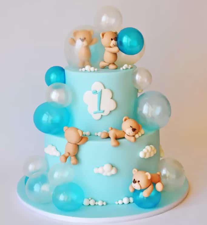 bubble bears cake - kids birthday cake ideas