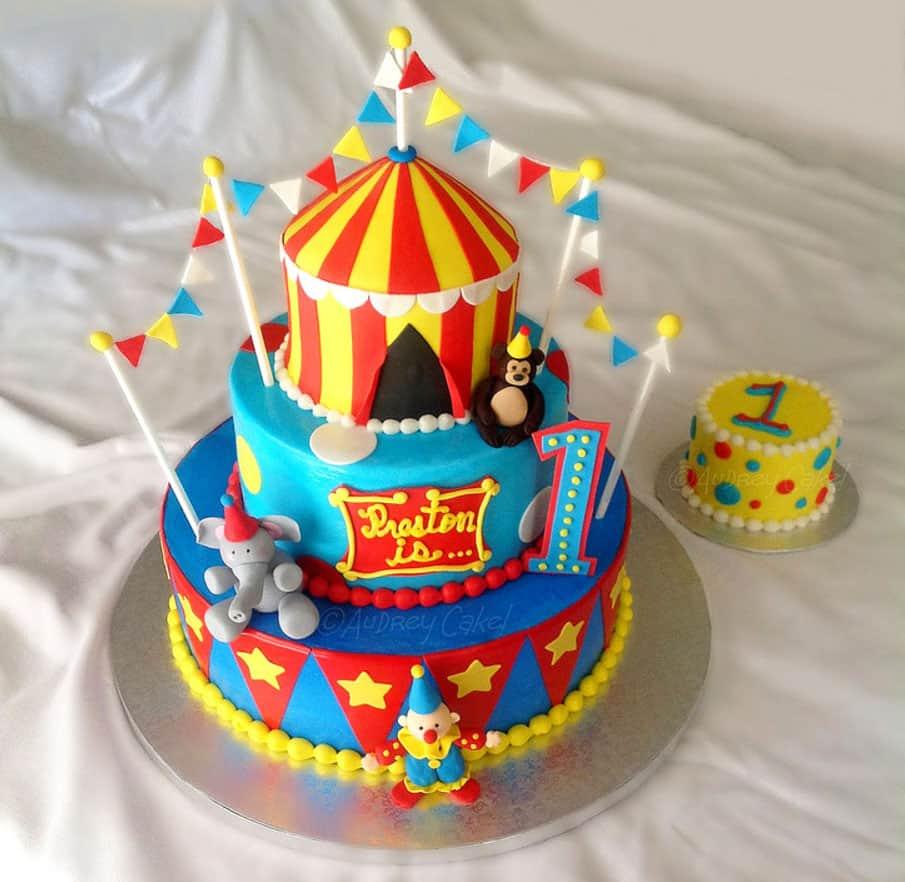 circus birthday cake - kids birthday cake ideas