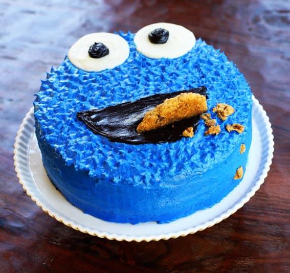 cookie monster cake - kids birthday cake ideas