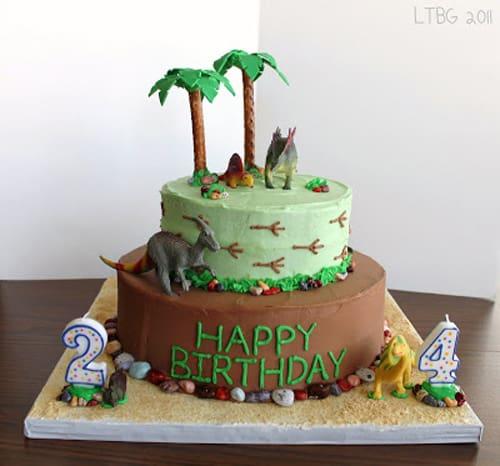 dinosaur cake - kids birthday cake ideas