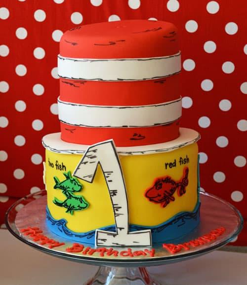 dr seuss cake - kids birthday cake ideas