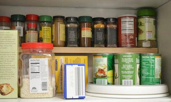 extra shelf - easy storage ideas