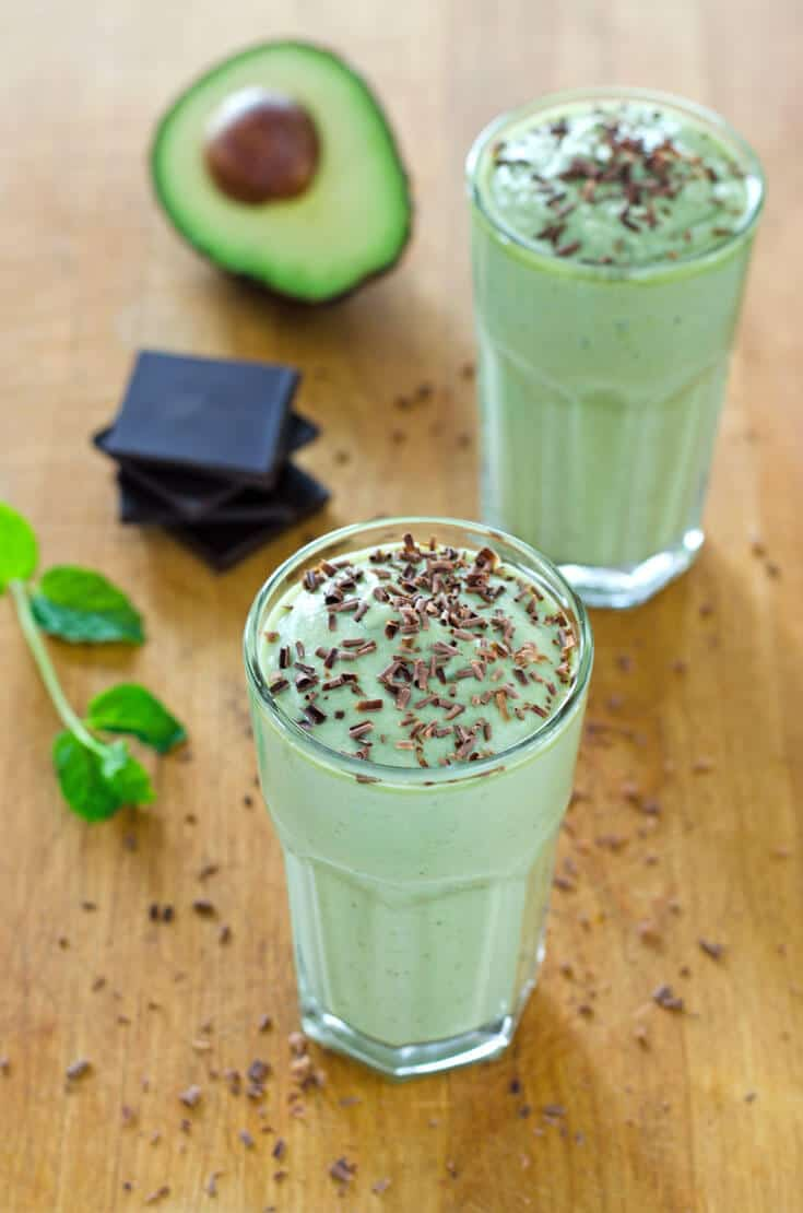 healthy shamrock shake - paleo smoothie ideas