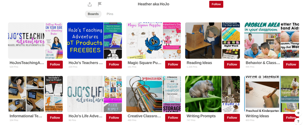 pinterest boards - generate sales for tPt