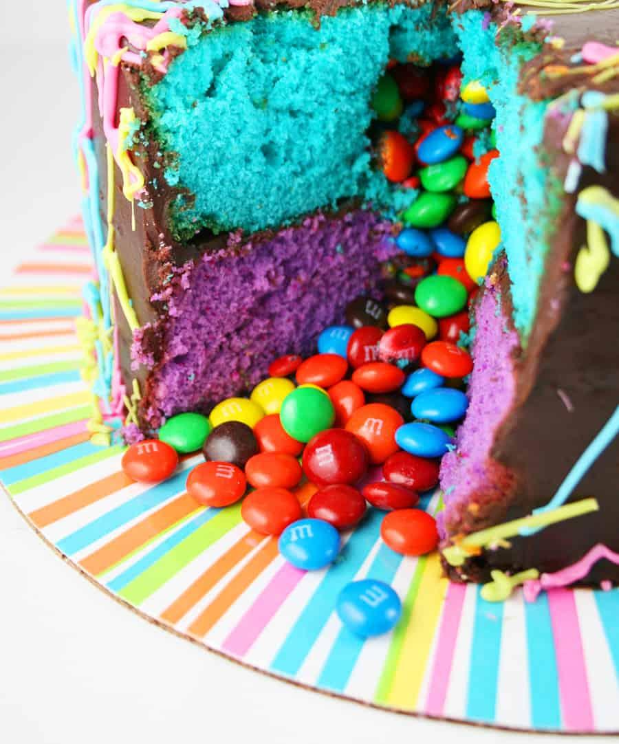jackson pollock pinata cake - kids birthday cake ideas