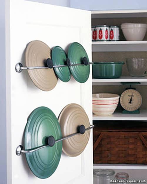 lid rack - easy storage ideas