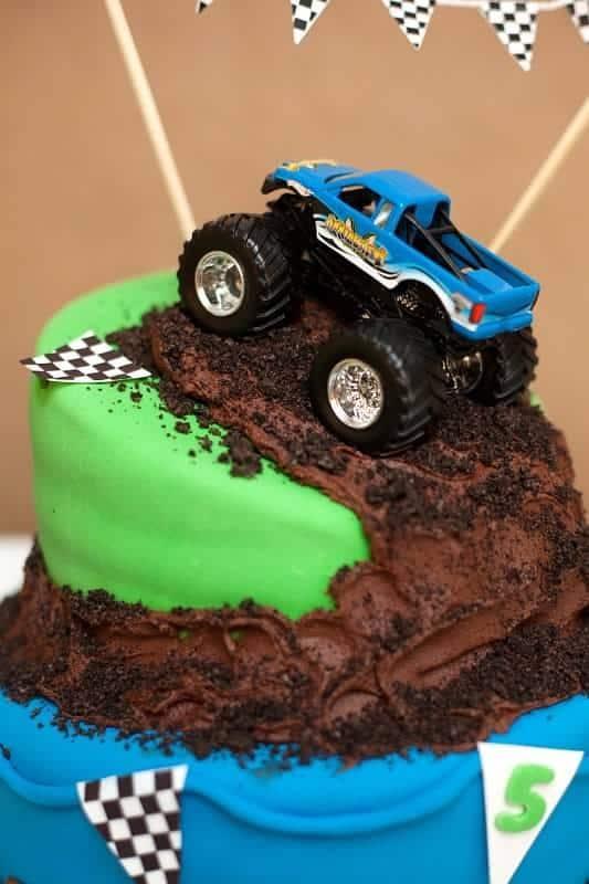 monster truck cake - kids birthday cake ideas