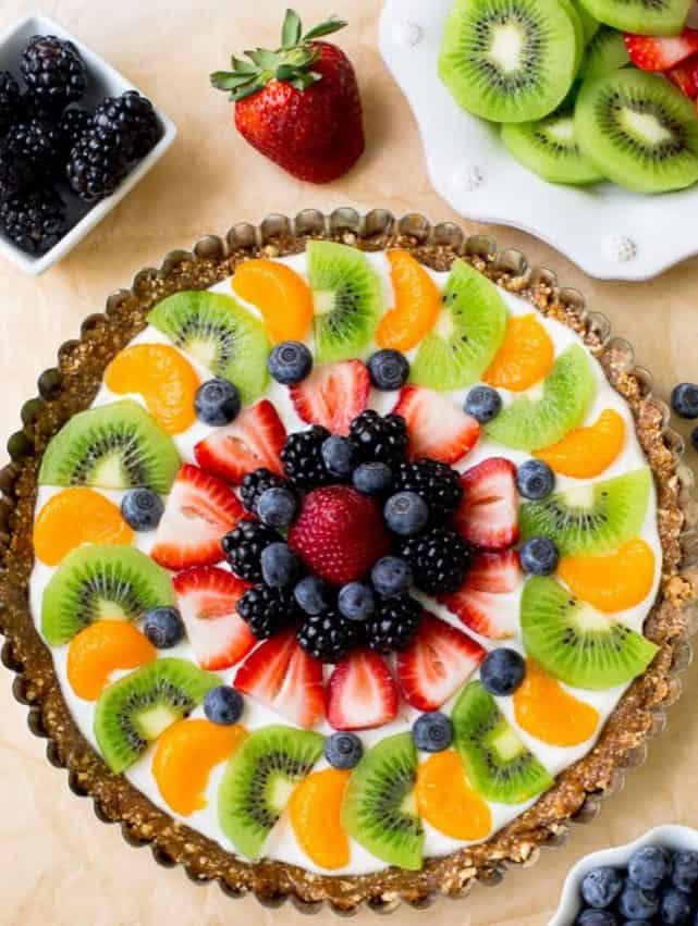 Greek Yogurt Fruit Tart - easy healthy desserts