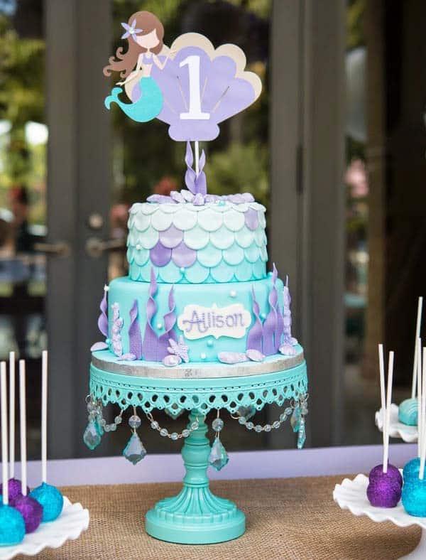 very little mermaid cake - kids birthday cake ideas