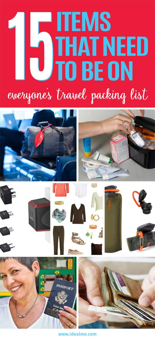15 items travel packing list
