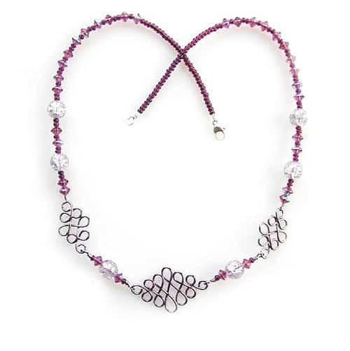 Amethyst Celtic Necklace - celtic knot