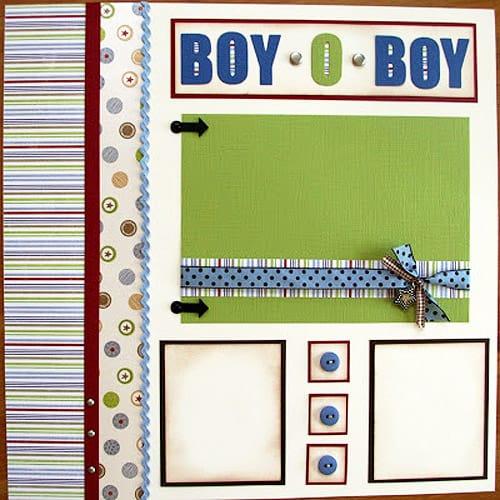 Boy-O-Boy - scrapbook templates