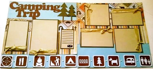 Camping Trip - scrapbook templates