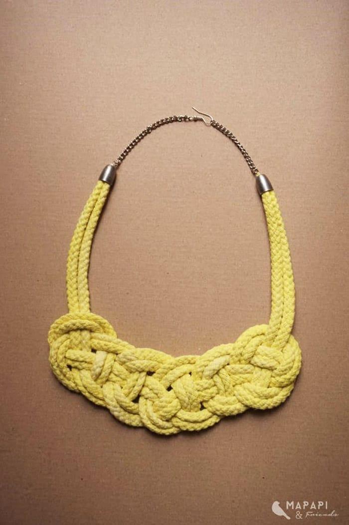 Celtic Knot Rope Necklace - celtic knot