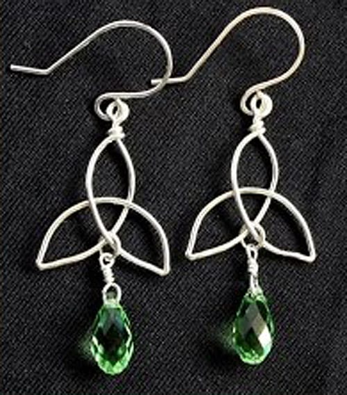 Celtic Knot Triquetra Charm and Earrings - celtic knot