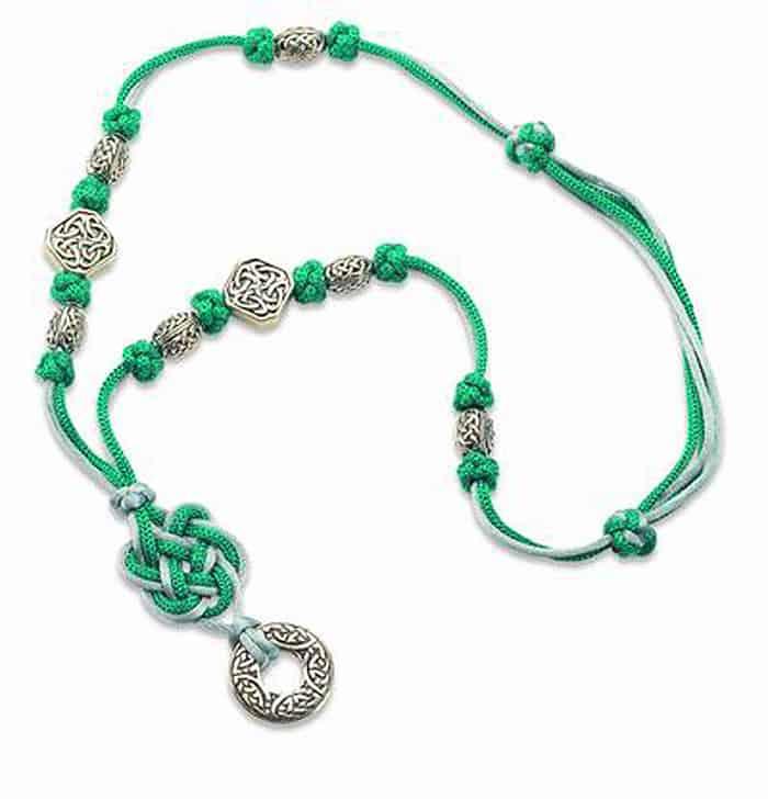 Celtic Square Knot Necklace - celtic knot