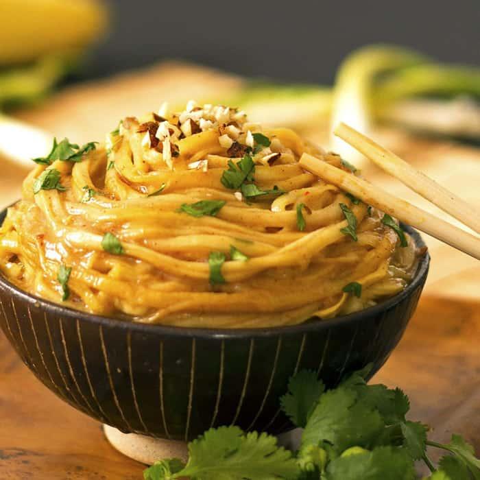 Crazy Good Peanut Noodles - gluten free meals