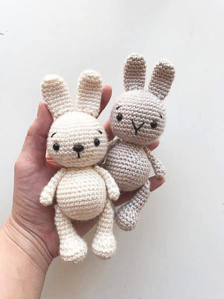 Вязание крючок игрушки заяц