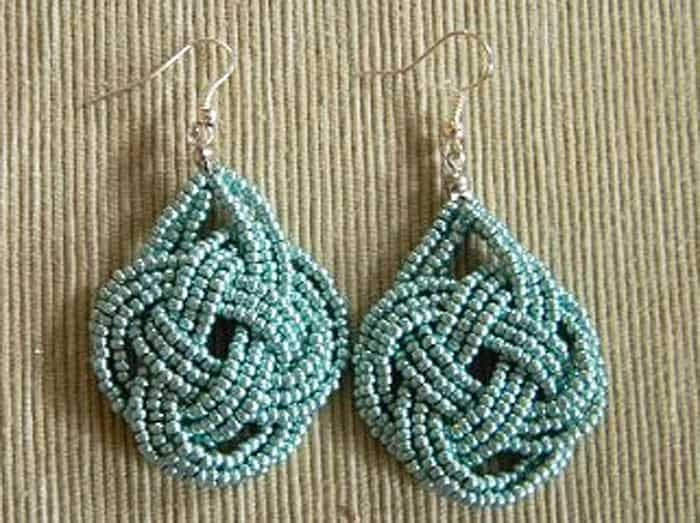 Double Coin Knot Earrings - celtic knot