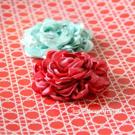 how to make roses out of fabric easy