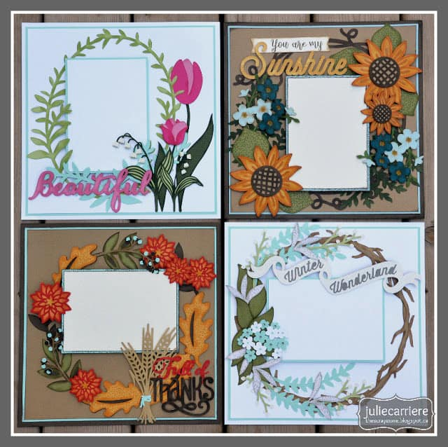 Flowers for all Seasons - scrapbook templates