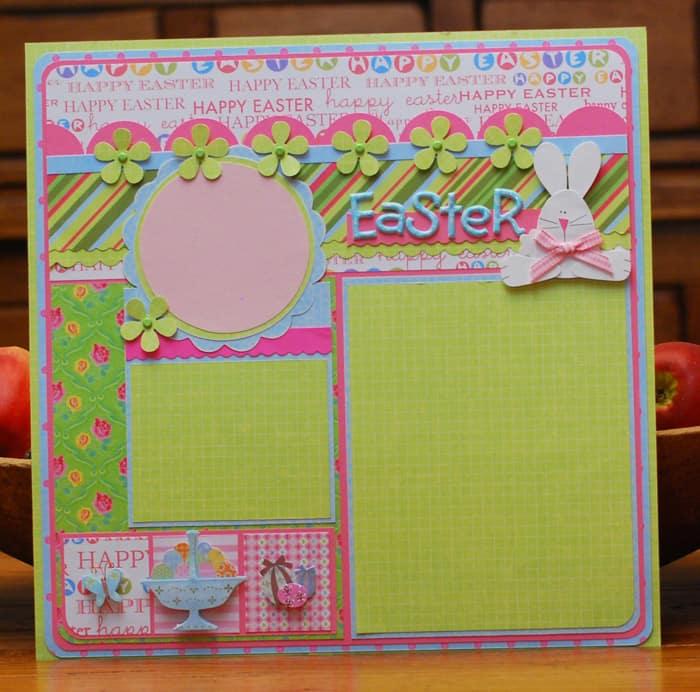Happy Easter - scrapbook templates