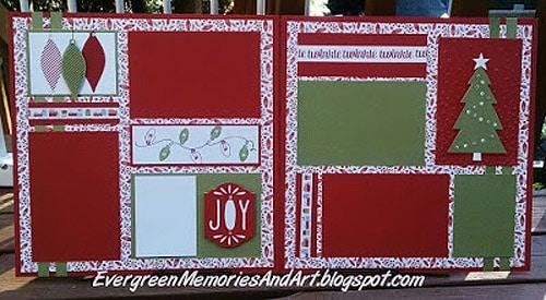 Happy Holidays - scrapbook templates