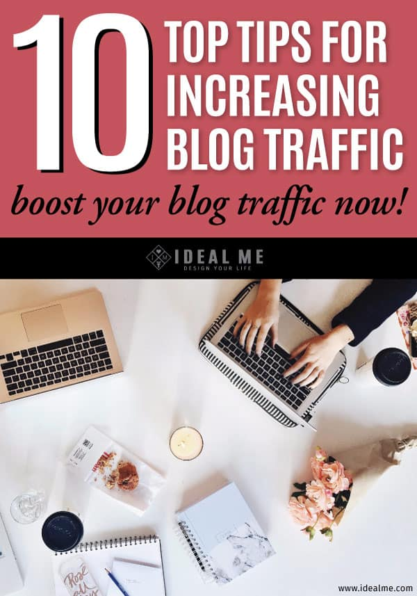 As bloggers, we are constantly working on building and maintaining our blog traffic. Here are our top 10 tips for increasing your blog's traffic.